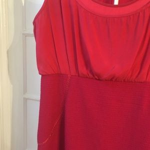 Zac Posen Dresses - Zac Posen red silk & wool sheath dress 12